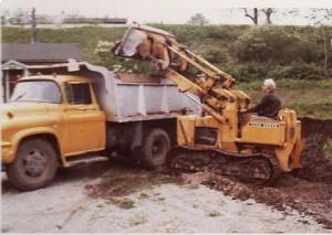 Dad on front-end loader