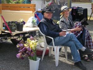 Bill Day & Lynn Wells at Hedley Farmers Market