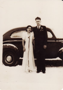 Mom & Dad's wedding day, Dec. 1, 1939