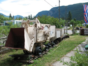 Ore cars on exhibit at Hedley Museum