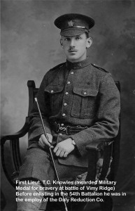 Lieut. T.C. Knowles (photo from Knowles family collection)
