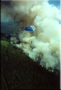 Simon, a Smokejumper