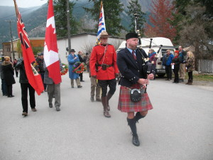 Marching to the Hedley Cenotaph