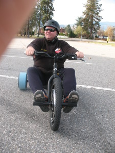 Jon on his electric trike
