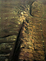 section of the San Andreas Fault (photo from Quake Basics)