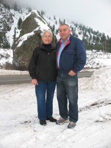 Henry & Barb Allison with Standing Rock in the background