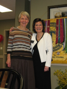 Sgt. At Arms, Phyllis Kotyk and President Dr. Caroline Cesar