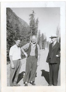 Eric Goodfellow, Bill Robinson, Rev. John C. Goodfellow (photo supplied by Eric Goodfellow)