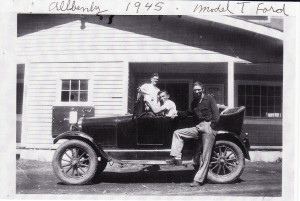 Rollo Ceccon & Friends, With His First Car, 1945 Model T Ford
