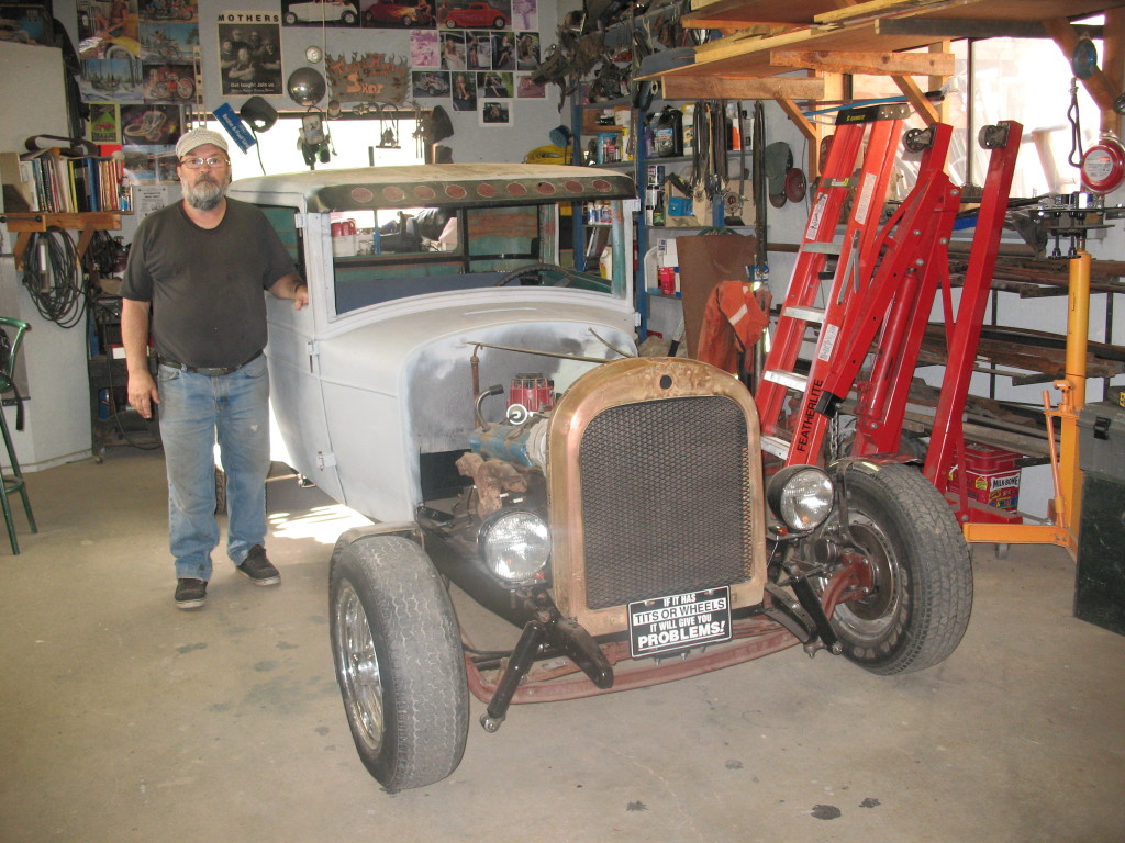 Leroy and the vehicle in its early stage
