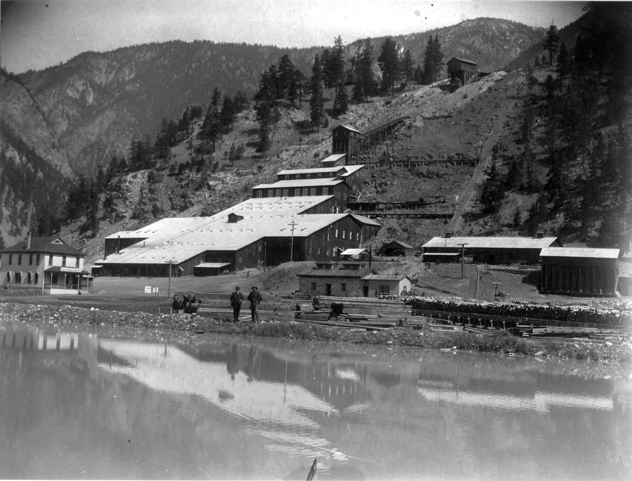 Stamp Mill Complex and Slime Pond, ca. 1910 - P0612