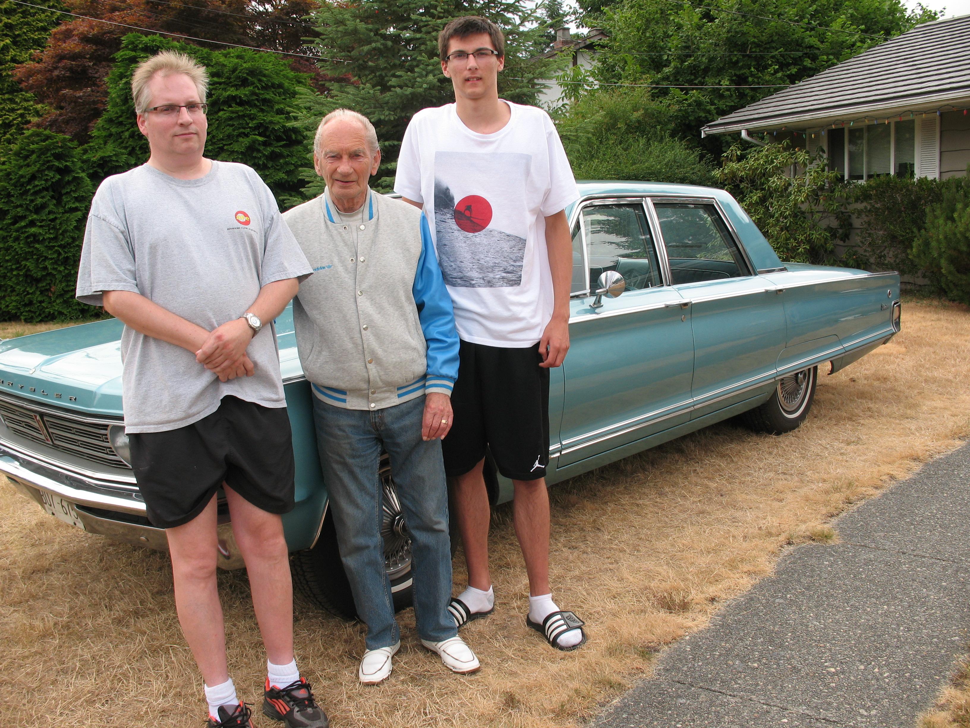 Troy, Grampa Axel & Brandon