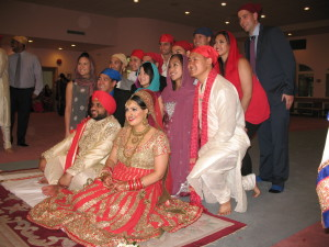 Govind & Nikki, with supportive family & friends