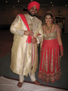 Govind & Nikki, now husband & wife