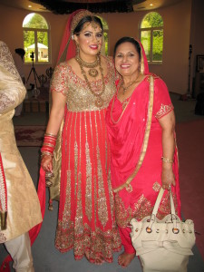 Nikki, the bride & her mother, Santosh