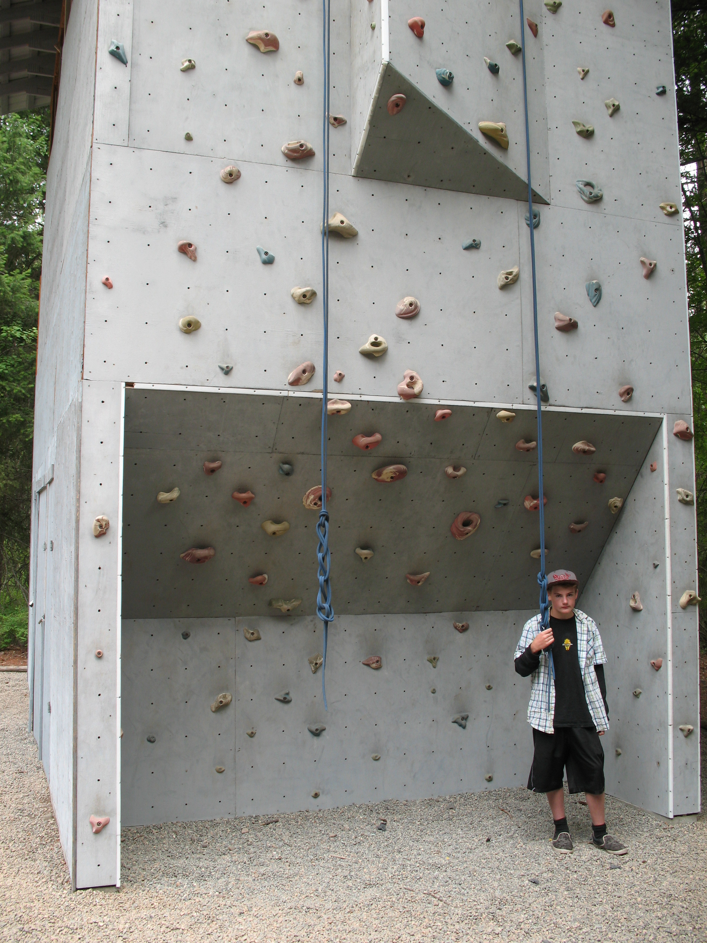 Royal at the climbing wall