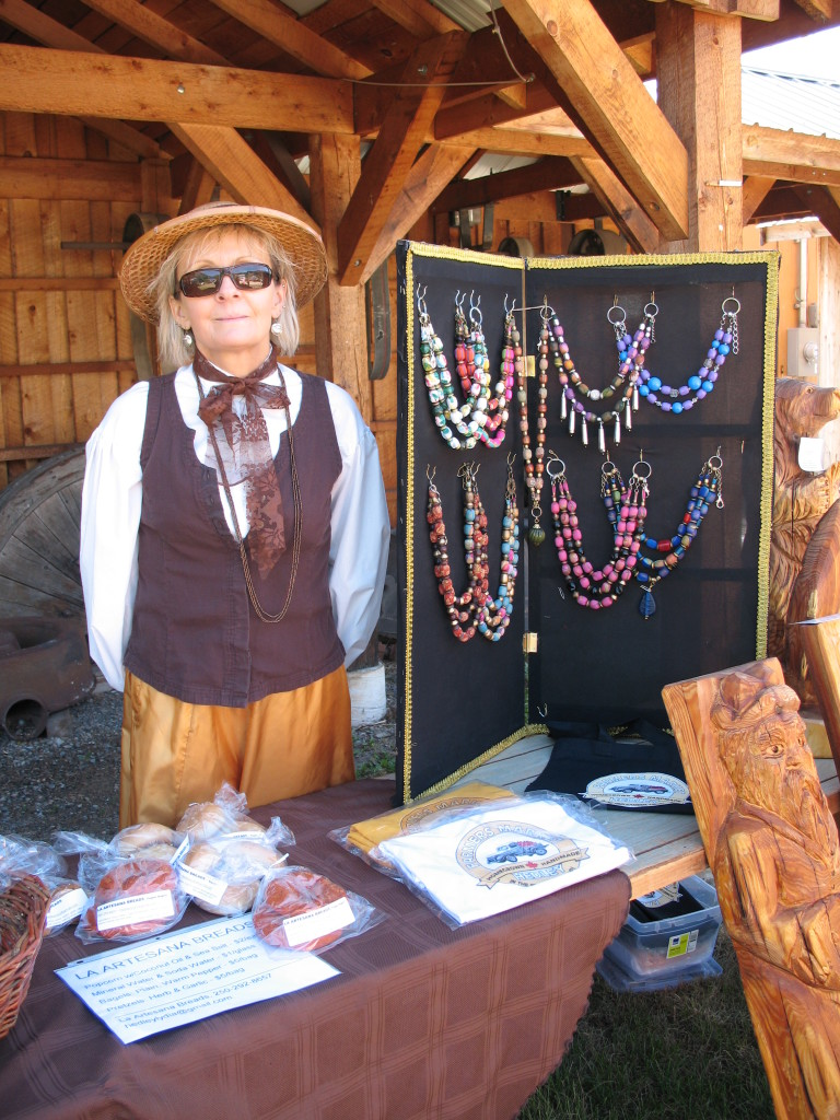 Lydia as a vendor at the Farmers Market & Sunday Fair