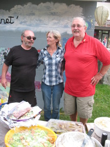 Organizers Don Armstrong, Sharon Sund,  Darryl McDonald (Judy Turner missing)