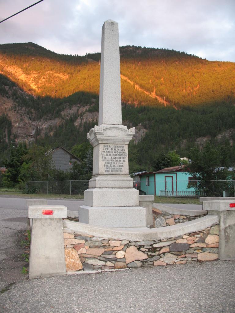 Cenotaph at Hedley, BC
