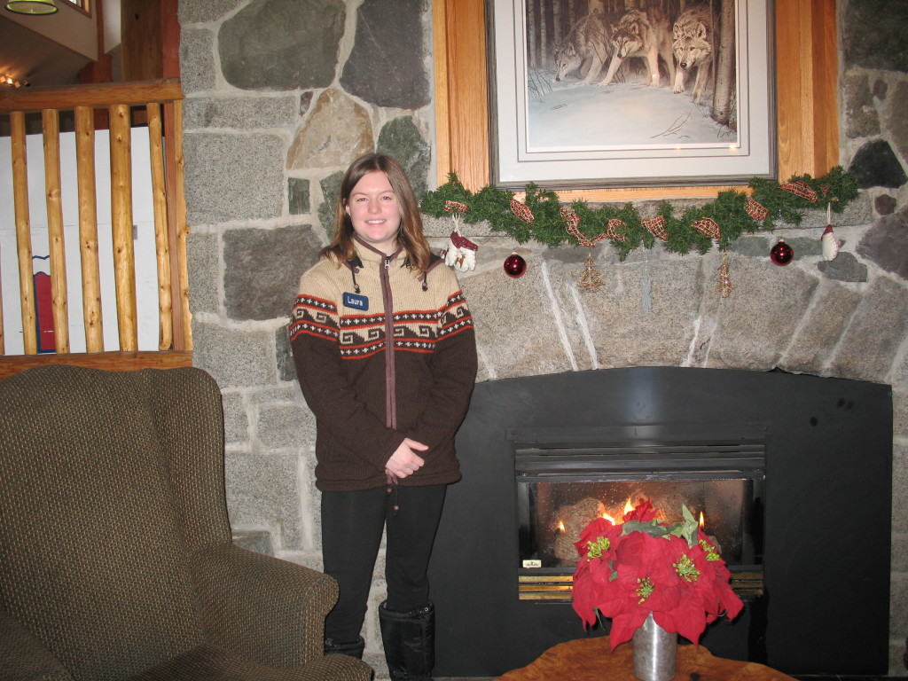 Our friend Laura at Manning Park Lodge