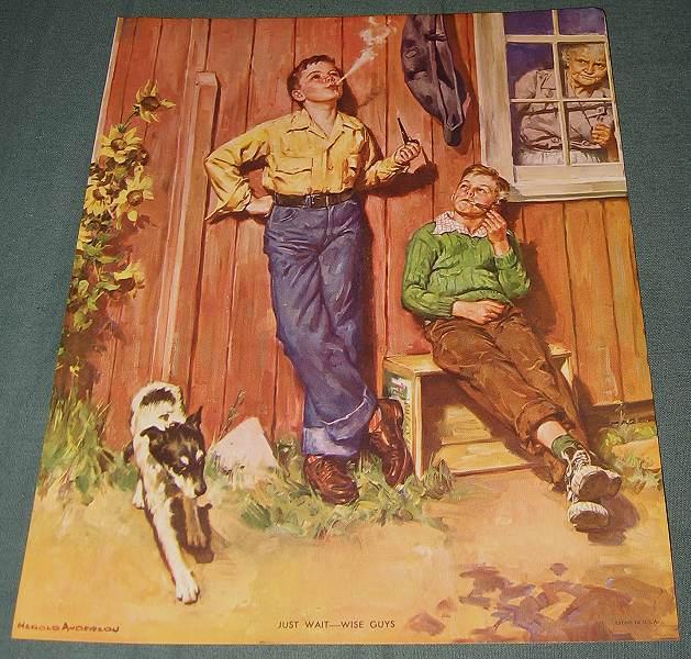 Vintage Harold Anderson Calendar Picture