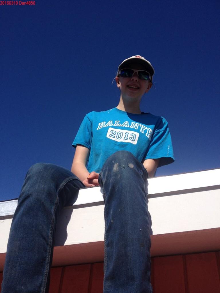 Ayrelea, on the roof.