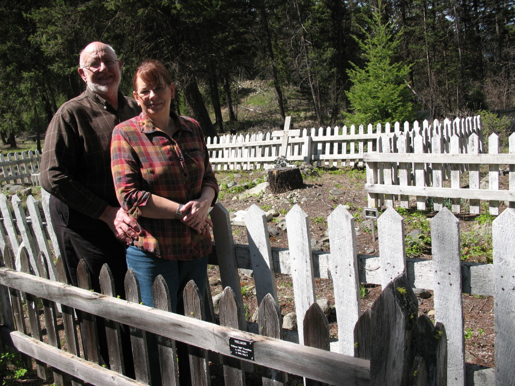 Bob & Diane Sterne at the Granite Creek cemetery.