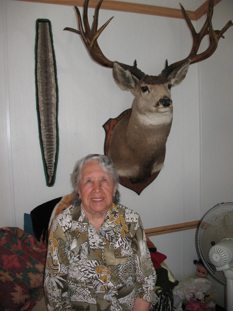 Auntie Doll remembers shooting this deer at age 19.