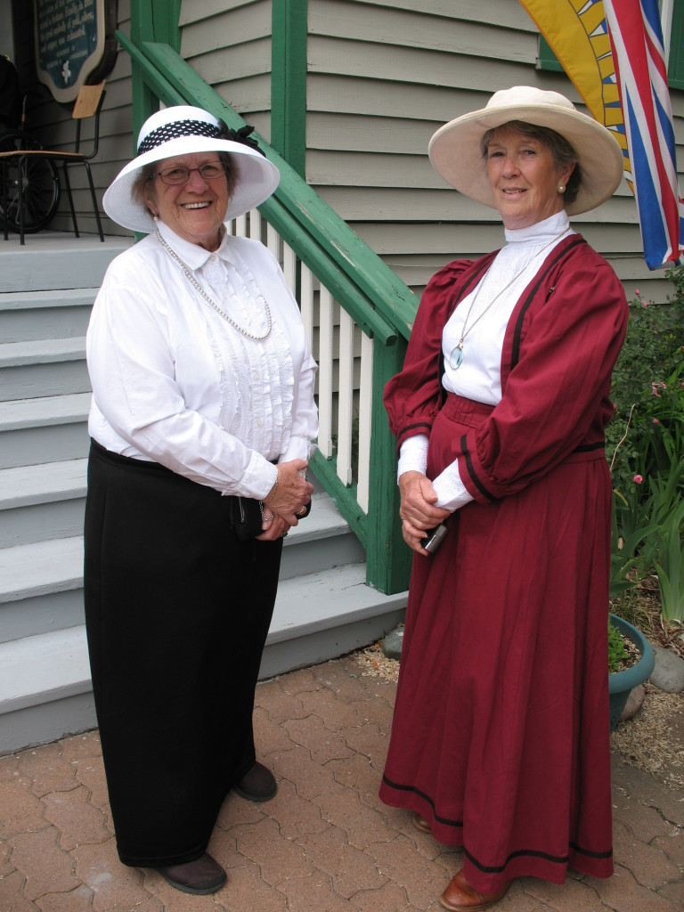 Peggy Terry & Lynn Day in pioneer era dress, helped at this event and are active volunteers in the communily.