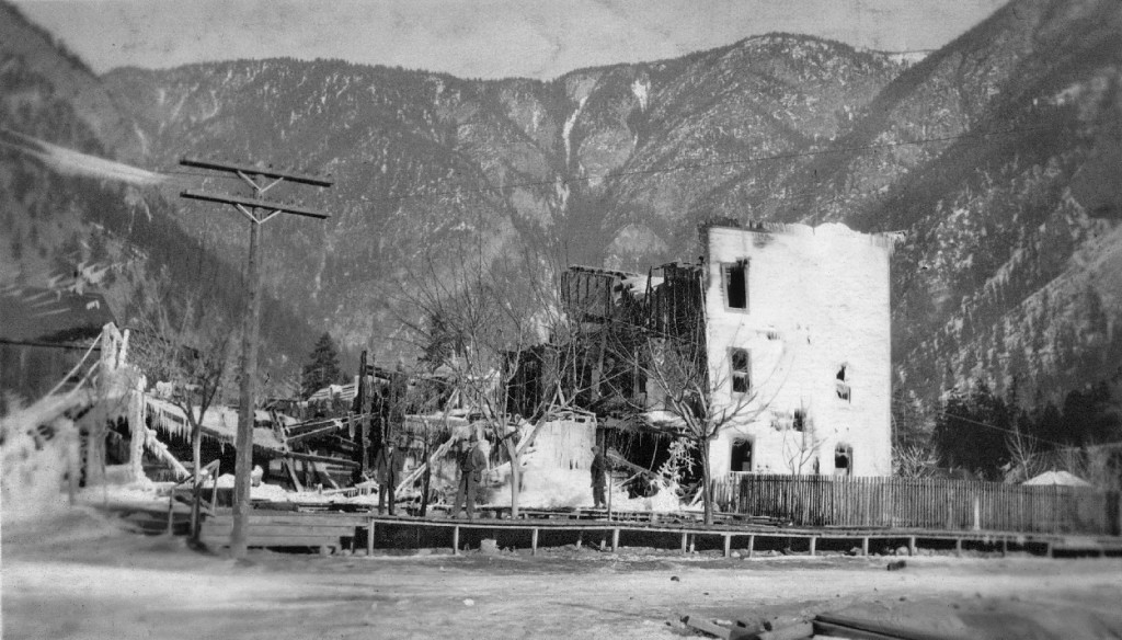 After a hotel fire, photo taken by H. Barnes