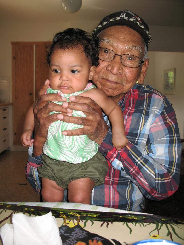 Nia &  her great grandfather, John Terbasket