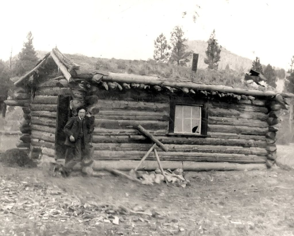 Photo of a cabin of that era (courtesy of Hedley Heritage Museum