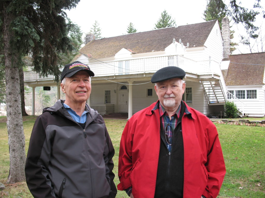 Art Martens with his friend, Len Roberts