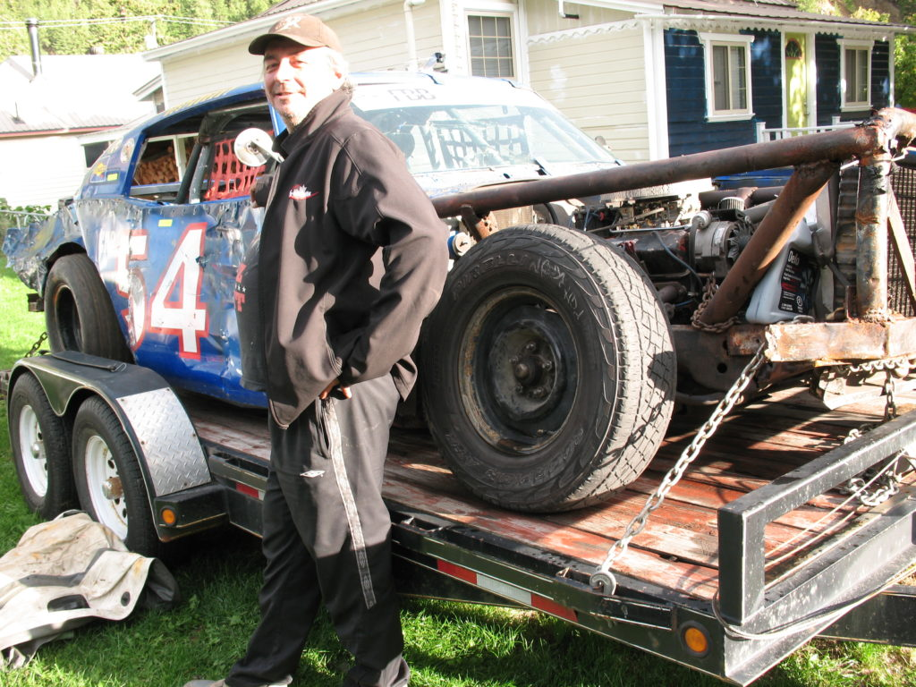 Fred Bell & his race car.
