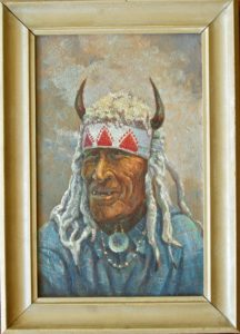 Painting by Richard Lindemere of Chief Fine Day -1926 (courtesy of Bill Day)