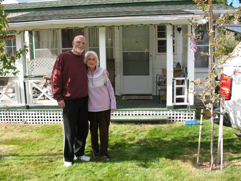 George & Christina, in front of their Hedley home, Oct. 2015