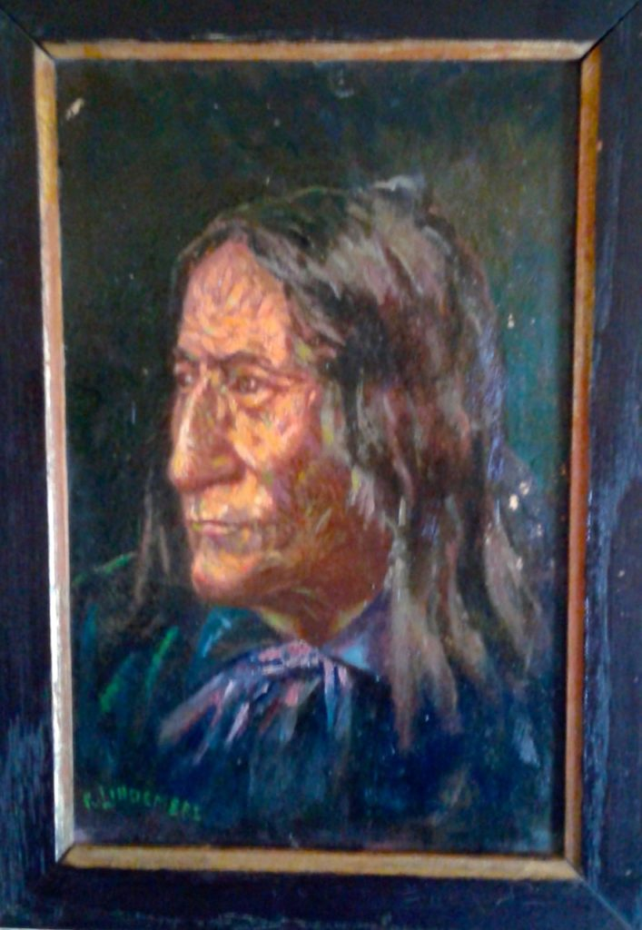 Painting of Chief Crowfoot by Richard Lindemere