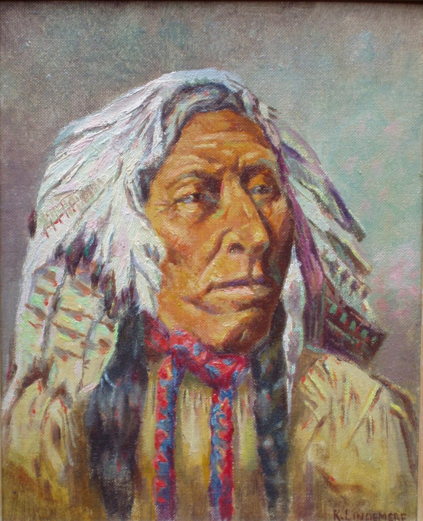 This painting of Chief Poundmaker was created by Richard Lindemere, grandfather of Hedley's Bill Day