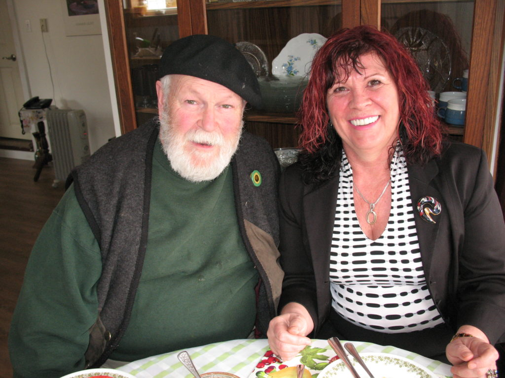 Green Party Candidate Vonnie Lavers with Dave Cursons, Campaign Manager