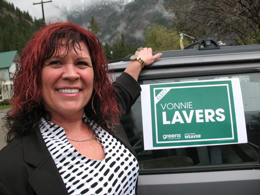 Vonnie Lavers, Green Party Candidate for Boundary-Similkameen