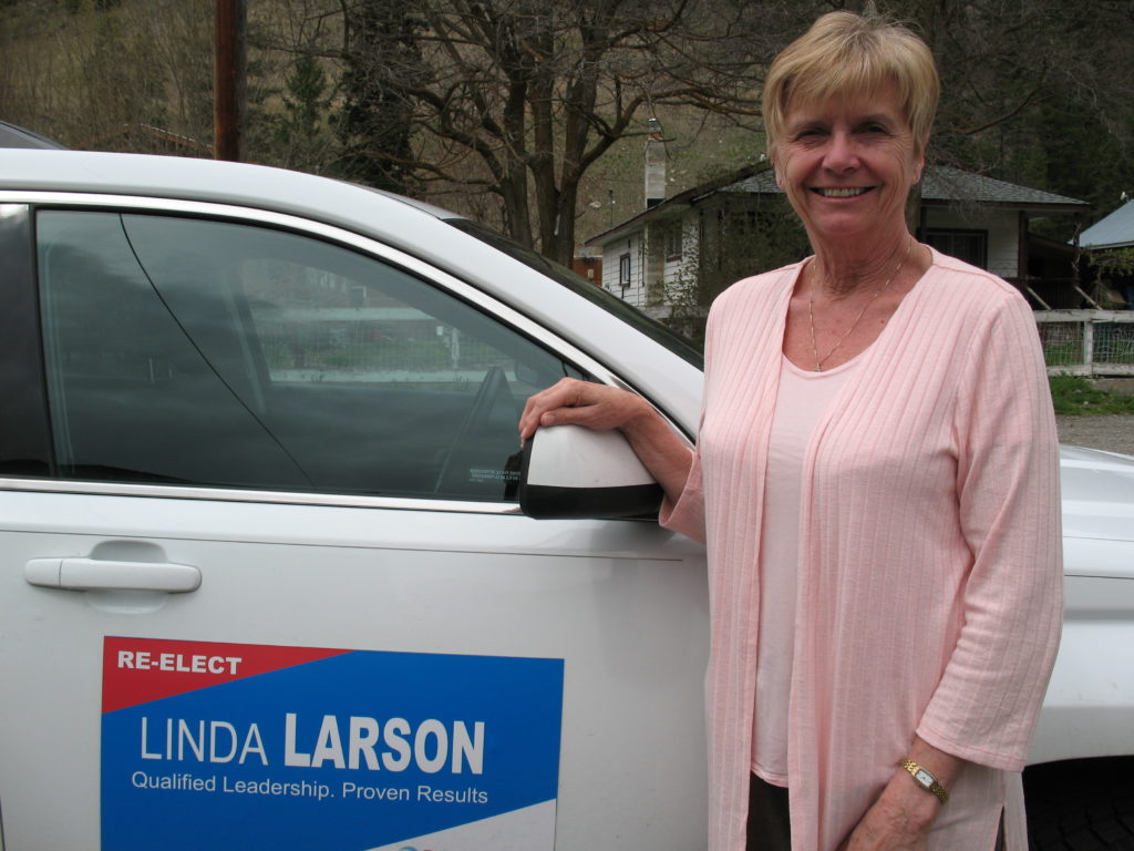 Linda Larson on the campaign trail.