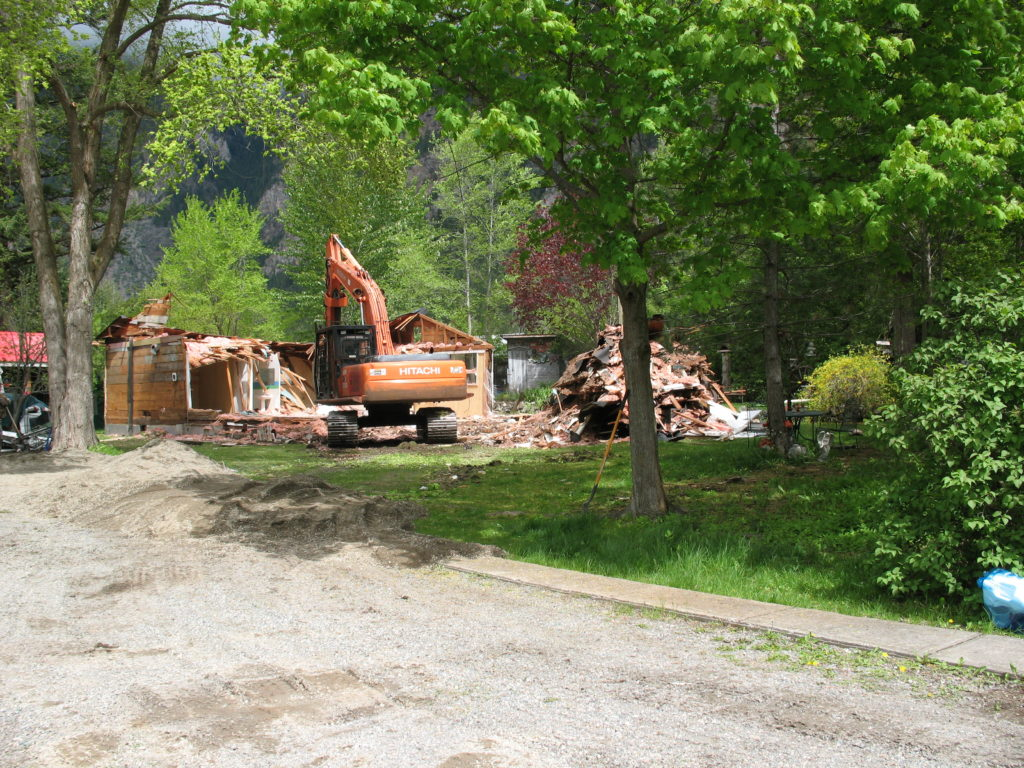 Demolition of the McLaren Home